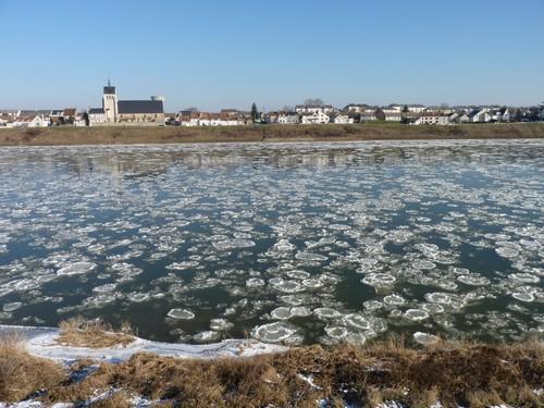 La Loire gelée à Jargeau